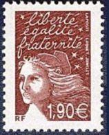 France Marianne Du 14 Juillet N° 3575 ** Luquet Le 1.90 Prune - 1997-04 Marianne Of July 14th