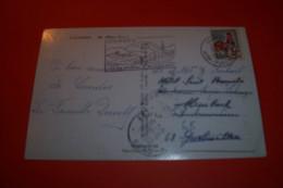 TIMBRE OBLITERATION FLAMME° 65 LOURDES LE 18 08 1966 - 1961-....