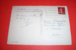 TIMBRE OBLITERATION FLAMME° PARIS XVI RUE SINGER LE 13 06 1938 FLAMME UTILISEZ LE TELEGRAME A 3fr 50 A 4 Fr POUR 15 MOTS - Marcophilie (Lettres)