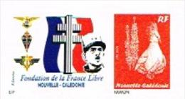 Nouvelle Caledonie Timbre Personnalise France Libre Prive Croix Lorraine General Charles De Gaulle 2013 Neuf Unc TB - Non Classificati