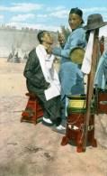 A Chinese Street Barber - Pekin - Cina