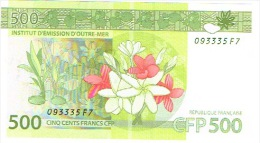 F7 Nouvelle Caledonie IEOM Billet Banque Banknote 500 F Nouvelle Signature 2014 Neuf UNC - Nouméa (New Caledonia 1873-1985)