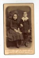 Photographie , 6 X 10 Cm , A. Langlois , Av De La Motte Picquet , Paris , Enfants , Garçon , Fille - Anonymous Persons