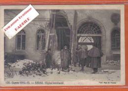 Carte Postale 62. Arras  L'hopital Bombardé  Sous La Neige  Trés  Beau Plan - Arras
