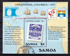 Samoa   Scott No. 810   Used    Year  1992  Souv. Sheet - Samoa