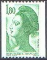 France Liberté De Gandon N° 2378 ** Le 1fr80 Vert De La Roulette - 1982-90 Liberté De Gandon