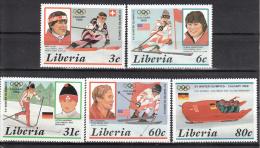 Liberia    Scott No. 1049-53  Mnh   Year  1987 - Liberia