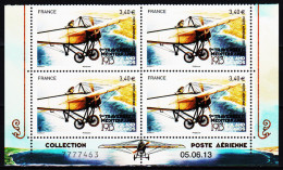 France 2013** Issu Bf / Première Traversée De La Méditerranée / Roland Garros ( Bloc De 4 BDF Daté Et Numeroté ) - 1960-.... Postfris