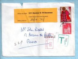 Lettre Recommandée Et Taxée De Décembre 1972. (P5152) - Schweiz