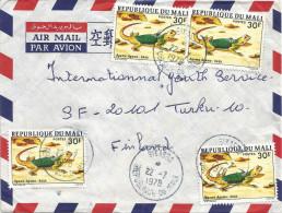 Mali 1978 Sikasso Agama Reptile Cover - Mali (1959-...)