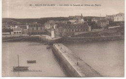 BELLE ILE EN MER  LES JETEES DE SAUZON ET L´HOTEL DU PHARE - Belle Ile En Mer