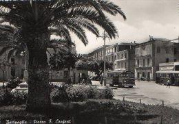 BATTIPAGLIA 1953 - PIAZZA FRANCESCO CONFORTI - ANIMATA - BUS - FORZE ARMATE LIRE 10 ISOLATO - C311 - Battipaglia