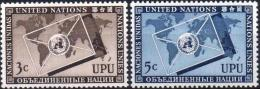 ONU UNO NEW YORK ** MNH Poste  17 Et 18 Union Postale Universelle UPU U.P.U. (CV 8,40 €) - New York -  VN Hauptquartier