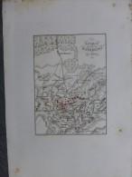 1er EMPIRE Bataille De WATERLOO  Carte Tardieu, Vers 1835, Eau-forte ; Ref 492 - Cartes Géographiques