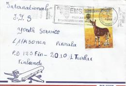 Mali 1998 Bamako Okapi Forest Giraffe Rotary Cover - Mali (1959-...)