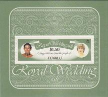 Tuvalu 1981 Royal Wedding Souvenir Sheet MNH - Tuvalu