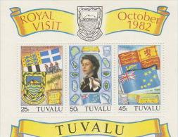 Tuvalu 1982 Royal Visit Souvenir Sheet MNH - Tuvalu