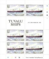 Tuvalu 1984 Ship 45c Beaverbank Sheetlet MNH - Tuvalu