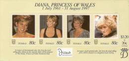 Tuvalu 1998 Princess Diana Souvenir Sheet MNH - Tuvalu