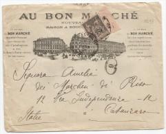 - Lettre - SEINE - PARIS - Cachet à Date S/TP Sage Type II N°97 Bord De Feuille, Seul S/L - 1901 - 1876-1898 Sage (Tipo II)