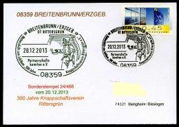 87983) BRD - SoST-Karte 24/466 In 08359 BREITENBRUNN/ERZGEB. Vom 20.12.2013 - OT Rittersgrün Mettenschicht, Knappschaft - BRD