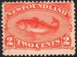 Newfoundland   1888   SG51  2c Orange-vermilion  OG - Newfoundland
