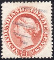 Newfoundland   1870   SG33  12c Chestnut On Medium White Paper   Fine Used - Newfoundland