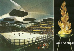 GRENOBLE JEUX OLYMPIQUES HIVER 1968 STADE DE GLACE DEMARTINI JUNILLON XES JEUX - Grenoble