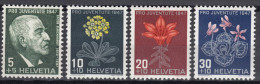 Switzerland 1947 Mi#488-491 Mint Hinged - Unused Stamps