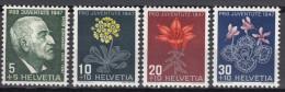 Switzerland 1947 Mi#488-491 Mint Hinged