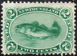 Newfoundland   1882   SG46  2c Yellow-green   OG - Newfoundland