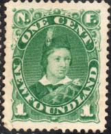 Newfoundland   1888   SG50a  1c Green   OG - Newfoundland
