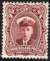 Newfoundland   1911   SG119  3c Red-brown   OG - 1908-1947