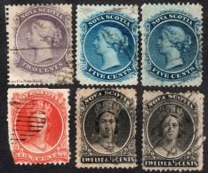 Nova Scotia    1863   6 Stamps In Mixed Condition - Nova Scotia