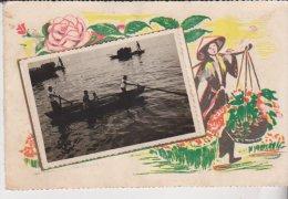 Indochine Carte Avec Photo - Viêt-Nam