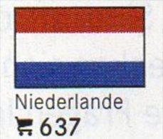 6-set Flaggen-Sticker Niederlande In Farbe 4€ Zur Kennzeichnung Von Alben+Sammlung Firma LINDNER #637 Flags Of Nederland - Matériel