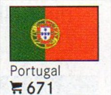 6-set Flaggen-Sticker Portugal In Farbe 4€ Zur Kennzeichnung Von Alben + Sammlungen Firma LINDNER #671 Flags Of Republik - Matériel
