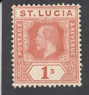 St Lucia 1921  1s  SG103  MH - St.Lucia (...-1978)