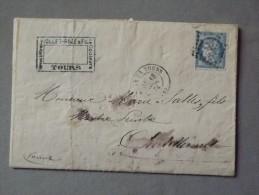 Enveloppe Ceres Type I De Tours - 1849-1876: Période Classique