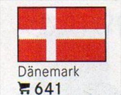 6-set Flaggen-Sticker Dänemark In Farbe Pack 4€ Zur Kennzeichnung Von Alben+Sammlung Firma LINDNER #641 Flags Of Danmark - Matériel