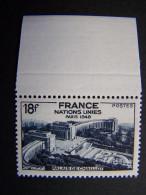 FRANCE NEUF** ANNEE 1948 N°  819 ASSEMBLEE GENERALE DES NATIONS UNIES PALAIS DE CHAILLOT SUP - Ungebraucht