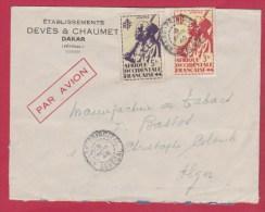 Enveloppe //  SENEGAL ( DAKAR)  Pour  ALGER  //  Par Avion - Senegal (1887-1944)