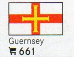 6-set Flaggen-Sticker Guernsey In Farbe 4€ Zur Kennzeichnung Von Alben+Sammlung Firma LINDNER #661 Flags Isle Of Britain - Matériel