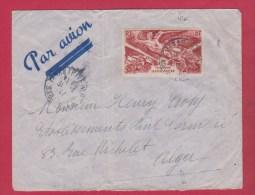 Enveloppe // MADAGASCAR Pour ALGER  //  Par Avion // - Madagascar (1889-1960)