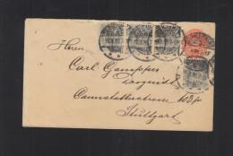 Dänemark Umschlag Mit ZuF 1895 - 1864-04 (Christian IX)
