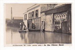 PARIS     Inondations  Rue  Félicien  David - Paris Flood, 1910