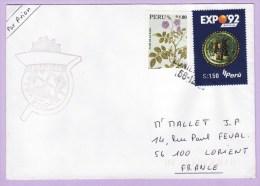 FS PRAIRIAL, Escale Au Pérou , Griffe Annulation Lorient - Postmark Collection (Covers)