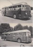 Série De 2 Cartes Postales TROLLEYBUS Suisses - Buses & Coaches