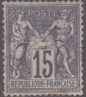 N 66  15C GRIS NEUF* - B/TB - 1876-1878 Sage (Type I)