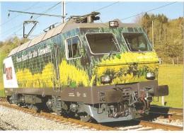TRAIN Suisse - EISENBAHN Schweiz - SATTEL - Locomotive électrique Re 446 445-9 Avec Peinture Publicitaire ALNO Publicité - Trains
